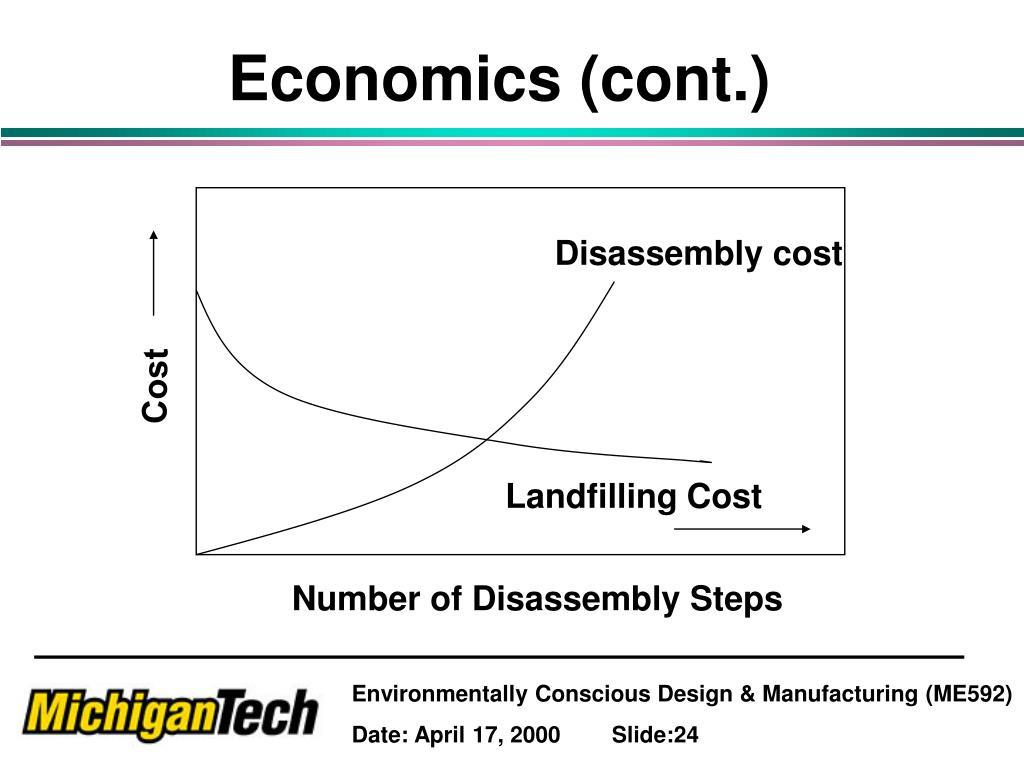 Economics (cont.)
