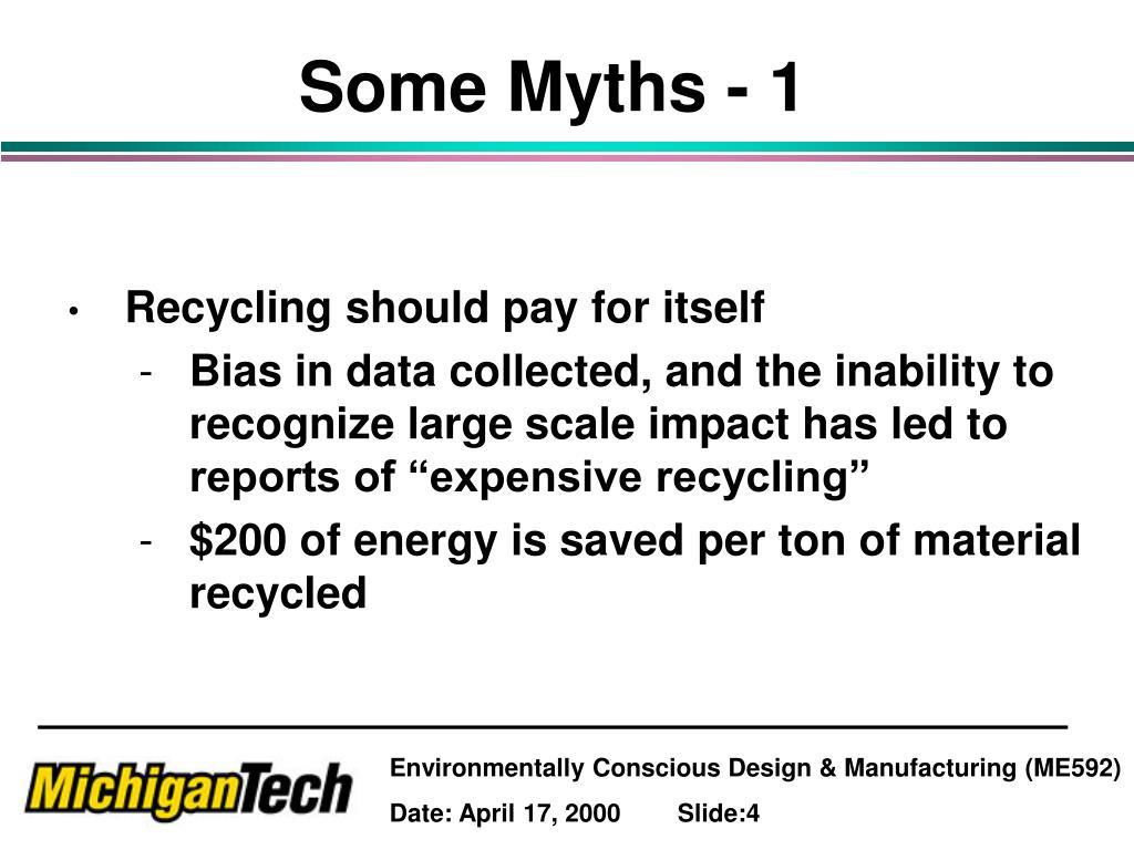 Some Myths - 1