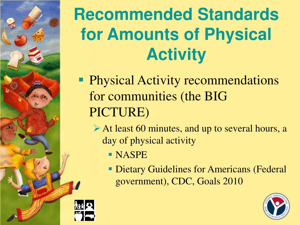 Recommended Standards for Amounts of Physical Activity
