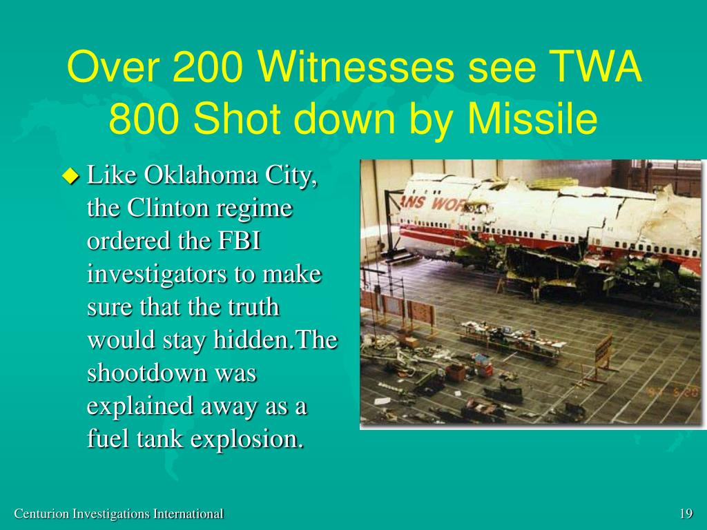 Over 200 Witnesses see TWA 800 Shot down by Missile