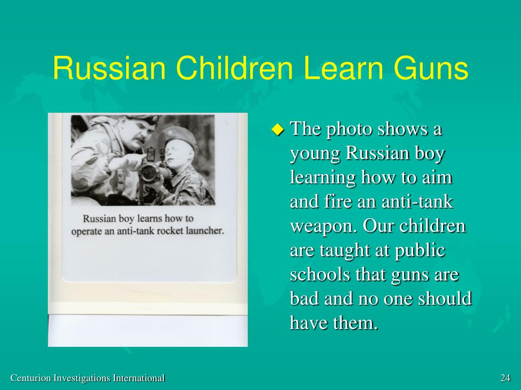 Russian Children Learn Guns