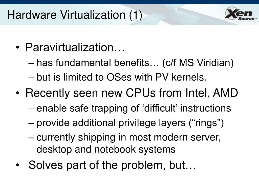 Hardware Virtualization (1)