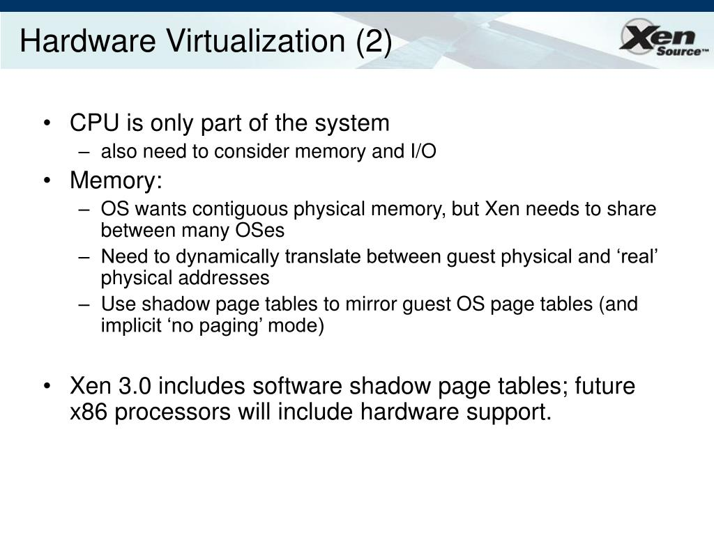 Hardware Virtualization (2)