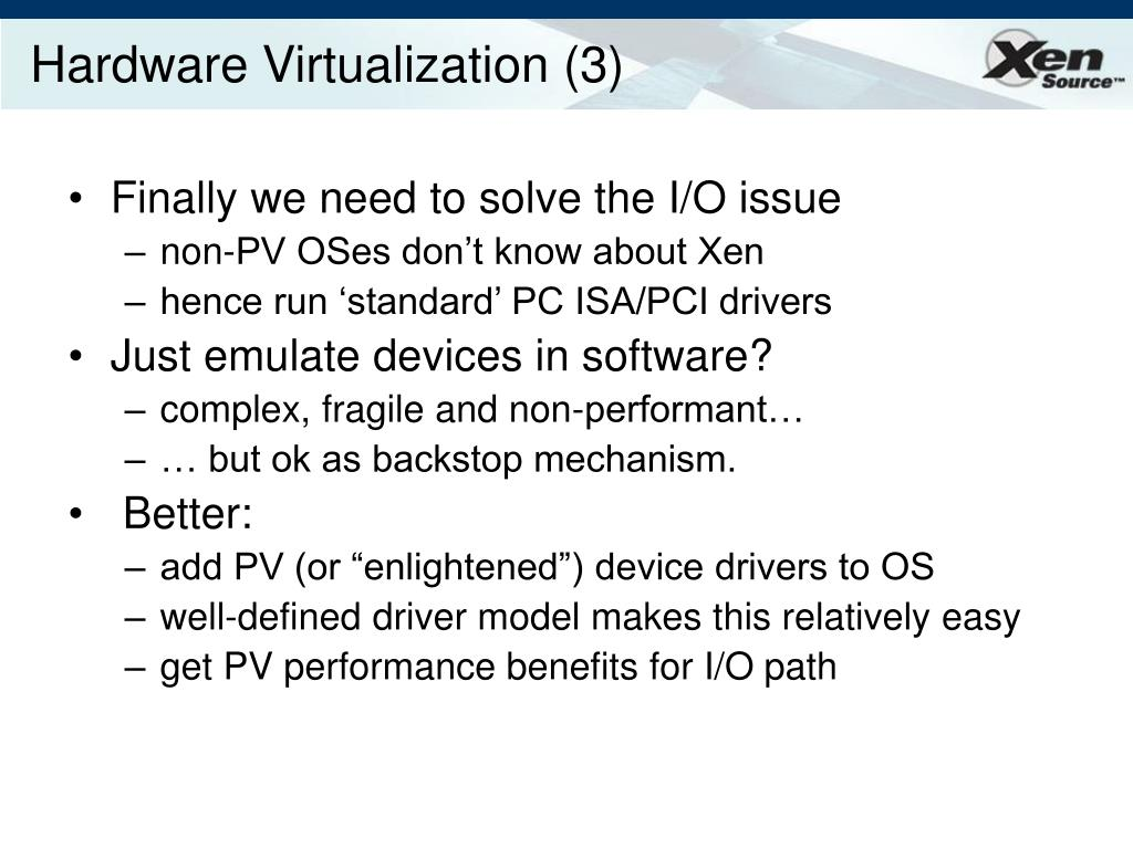 Hardware Virtualization (3)