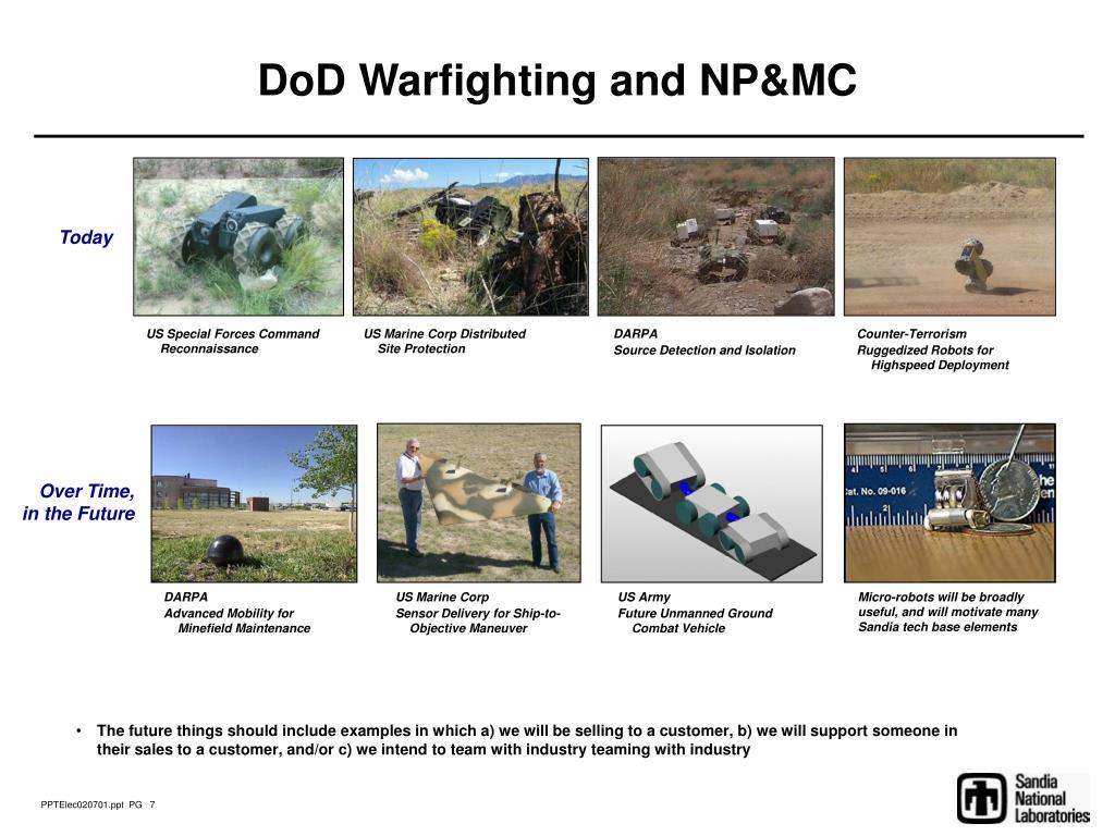 DoD Warfighting and NP&MC