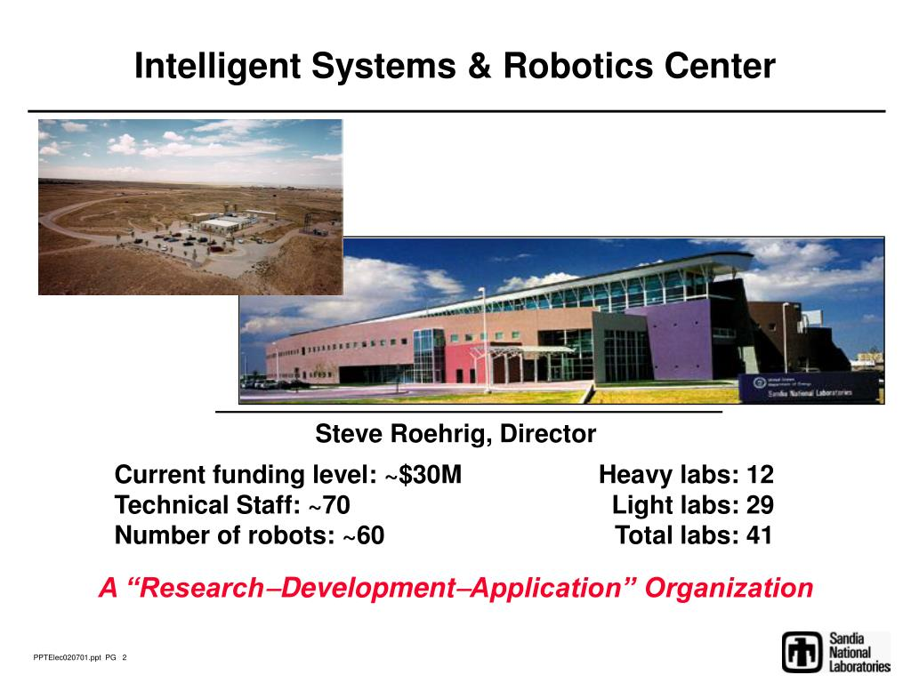 Intelligent Systems & Robotics Center