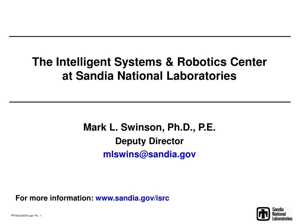 The Intelligent Systems & Robotics Center
