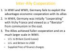 inter ally cooperation