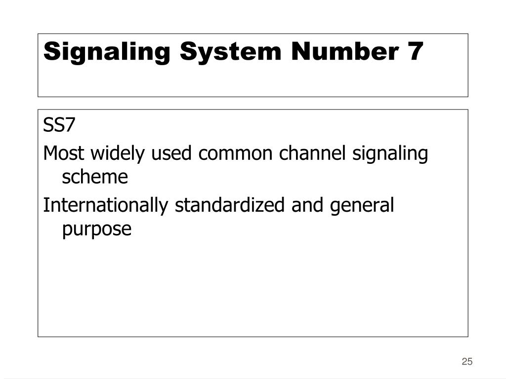 Signaling System Number 7