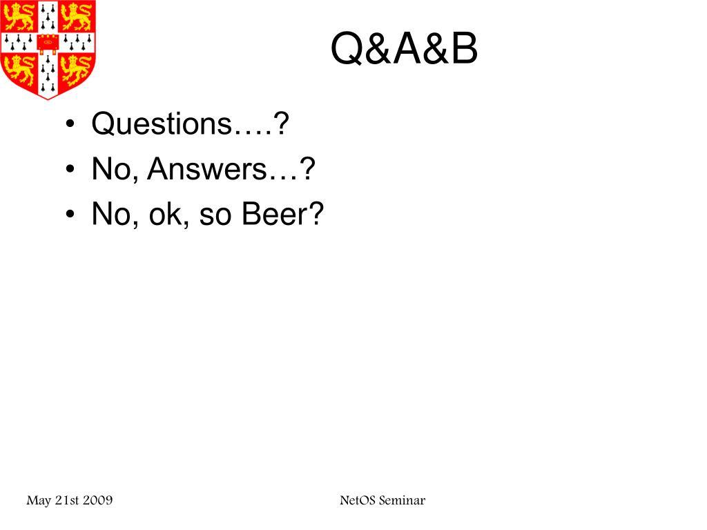 Q&A&B