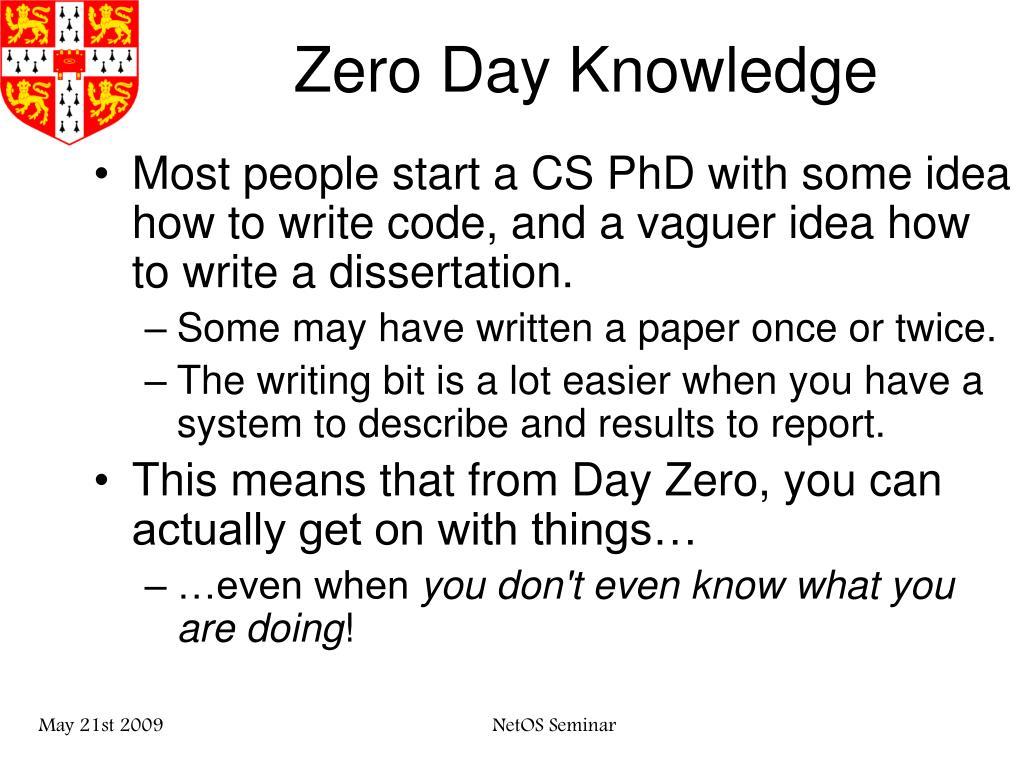 Zero Day Knowledge