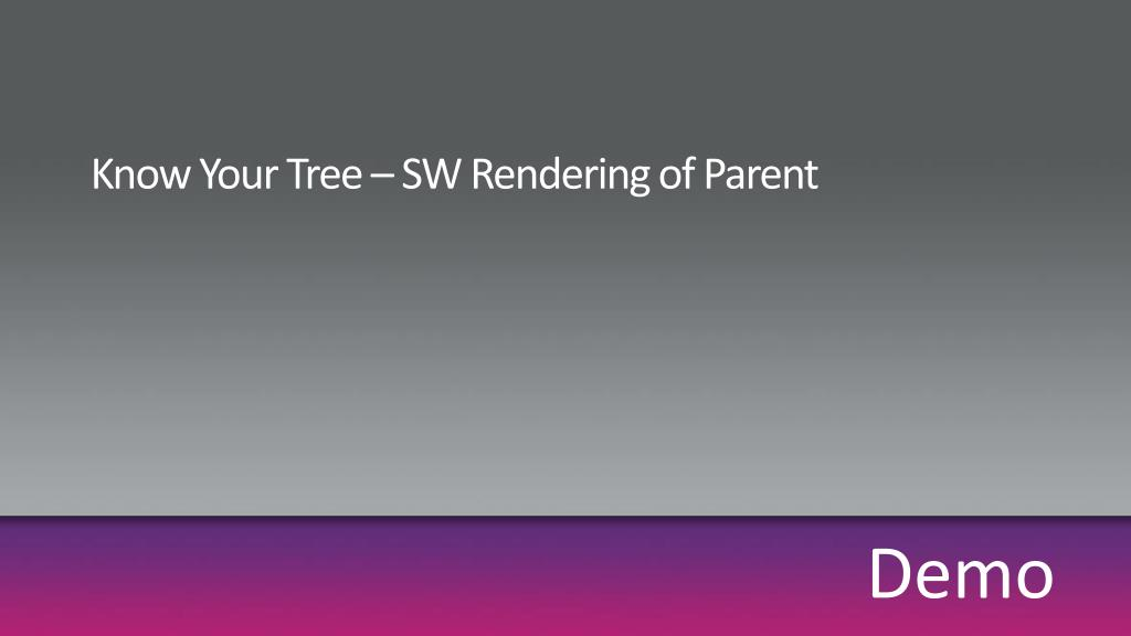 Know Your Tree – SW Rendering of Parent