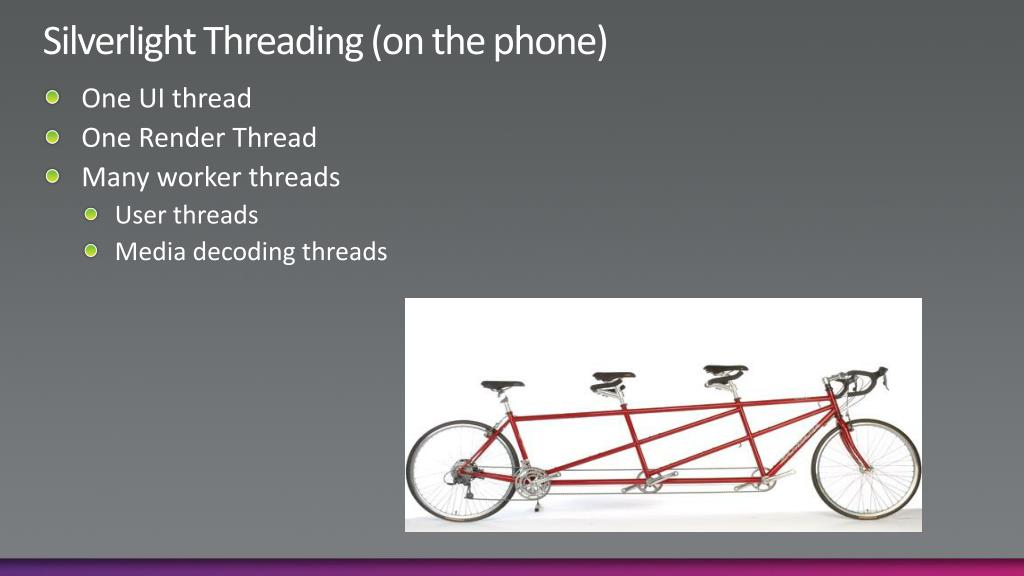 Silverlight Threading (on the phone)
