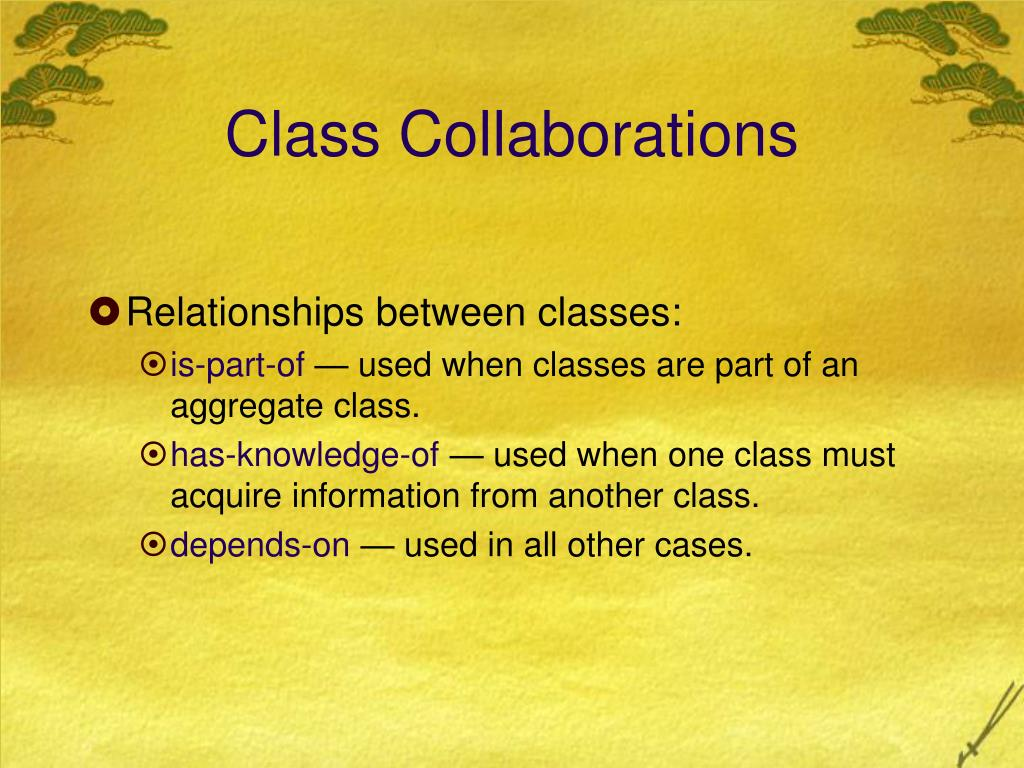 Class Collaborations