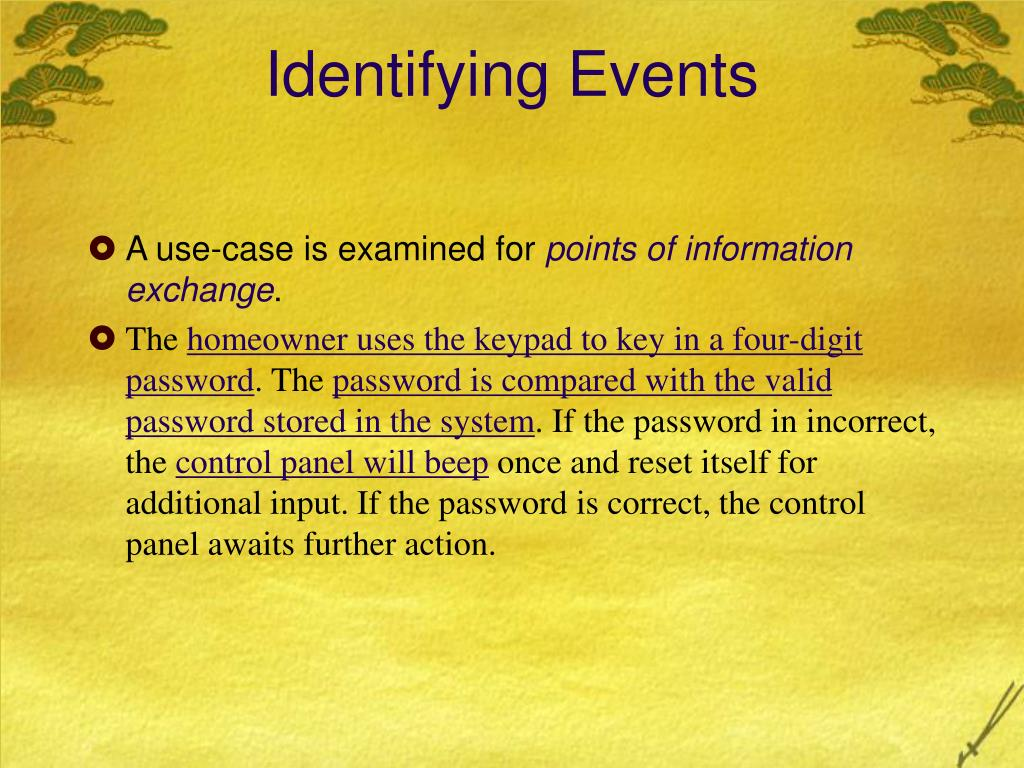 Identifying Events