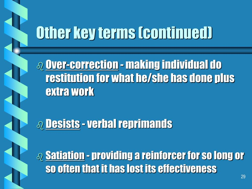 Other key terms (continued)