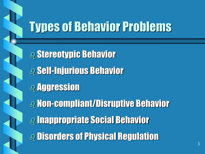 Types of behavior problems