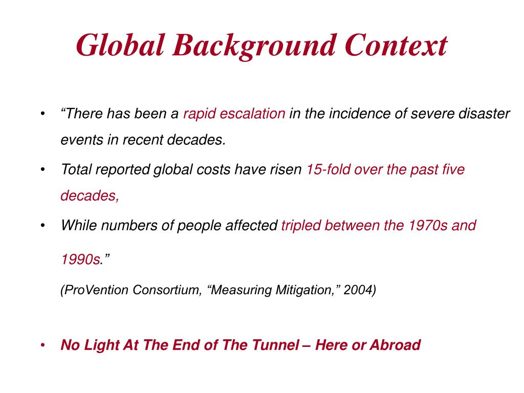 Global Background Context