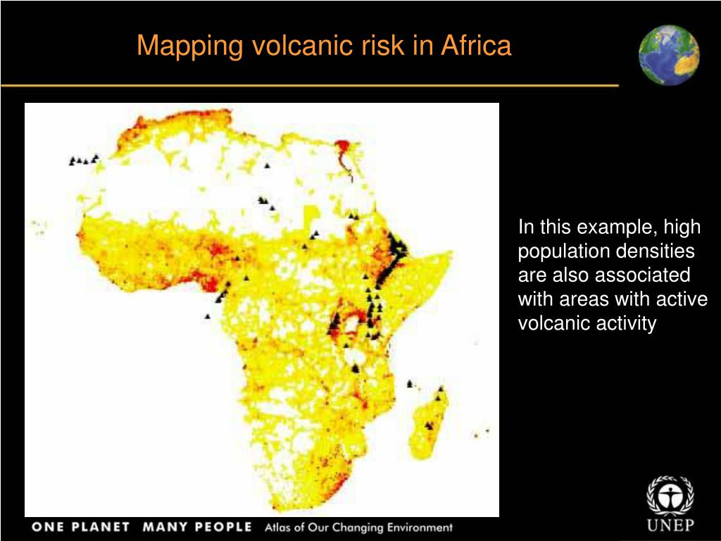 Mapping volcanic risk in Africa