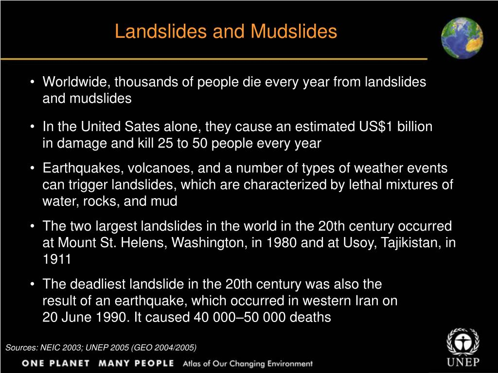 Landslides and Mudslides