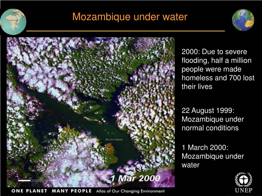 Mozambique under water