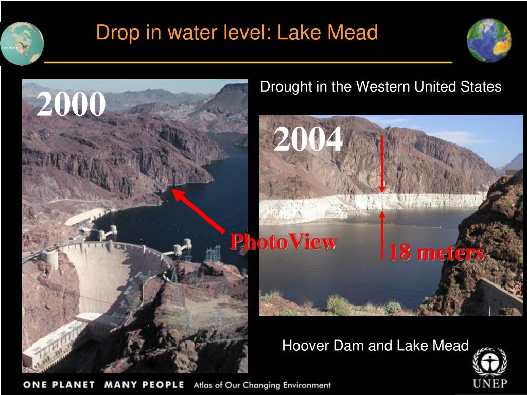 Drop in water level: Lake Mead