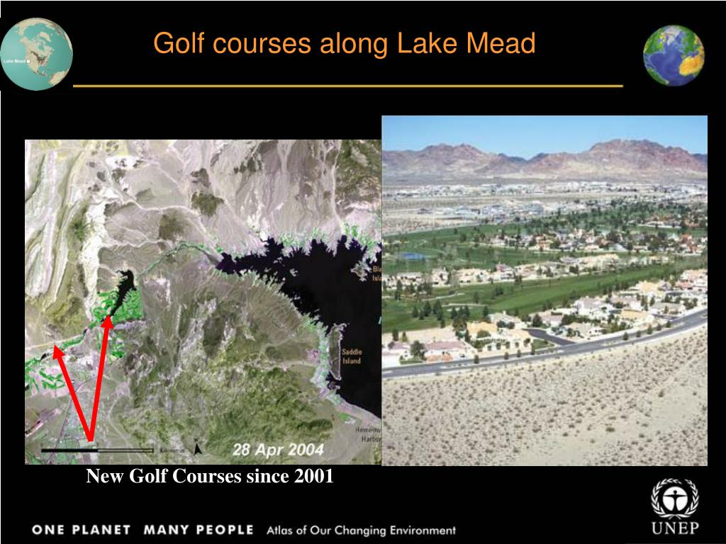 Golf courses along Lake Mead