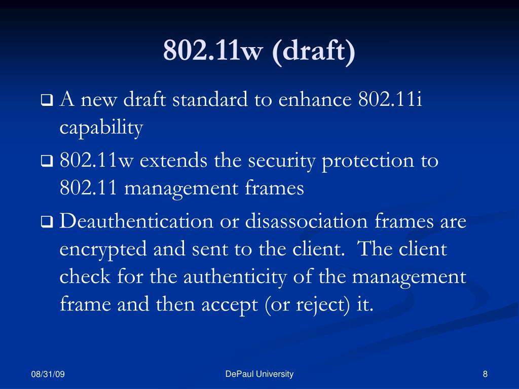 802.11w (draft)