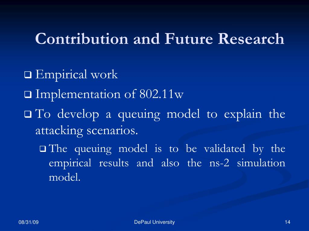 Contribution and Future Research