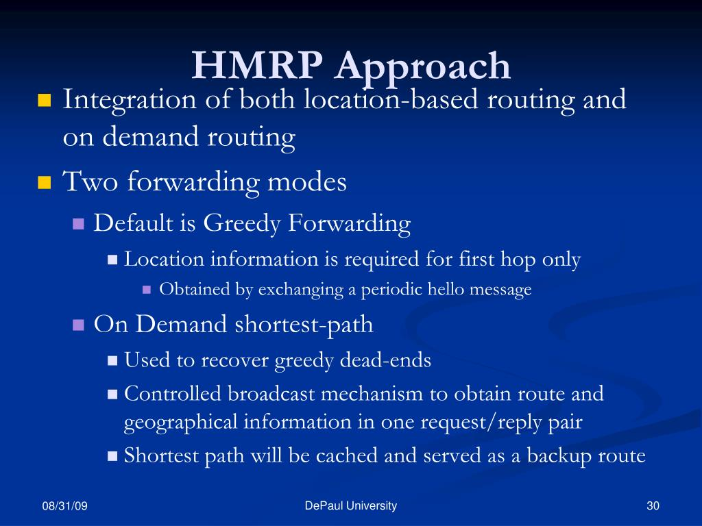 HMRP Approach