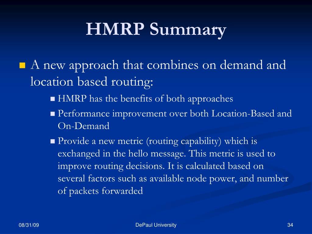 HMRP Summary