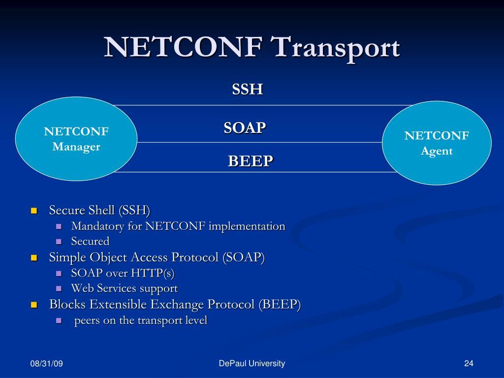NETCONF Transport