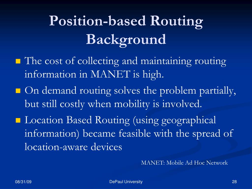 Position-based Routing