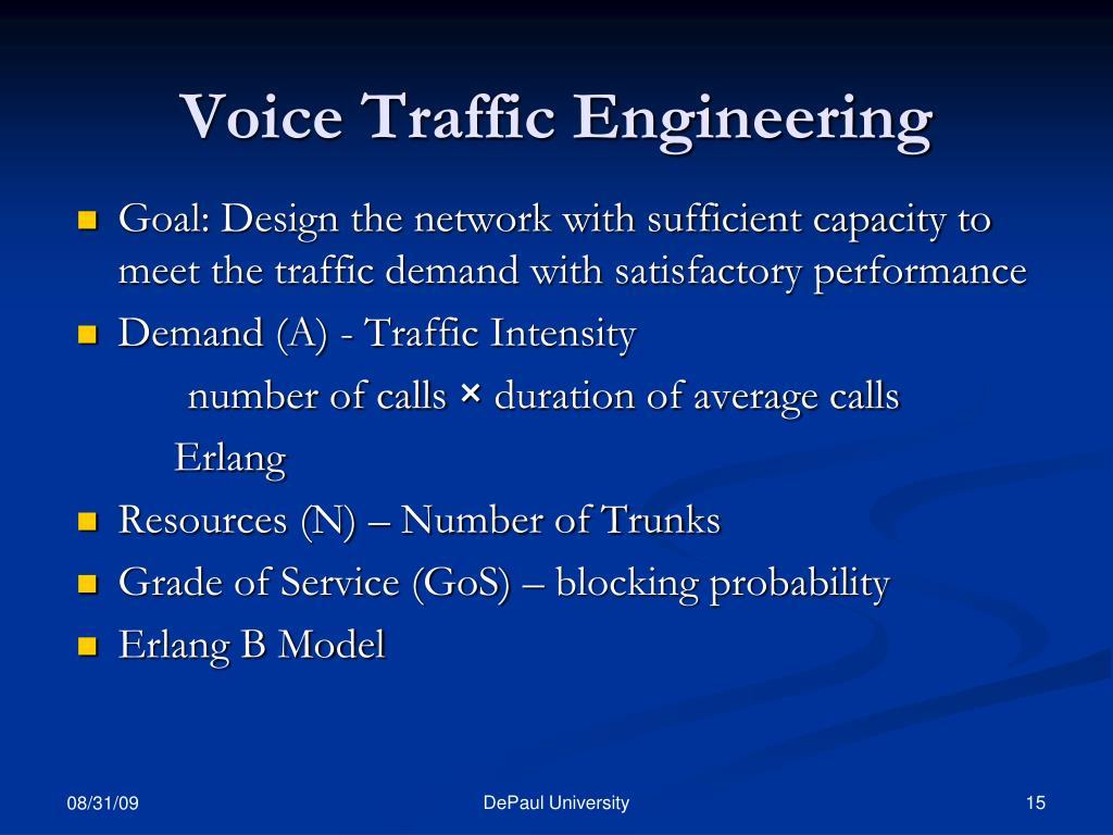 Voice Traffic Engineering
