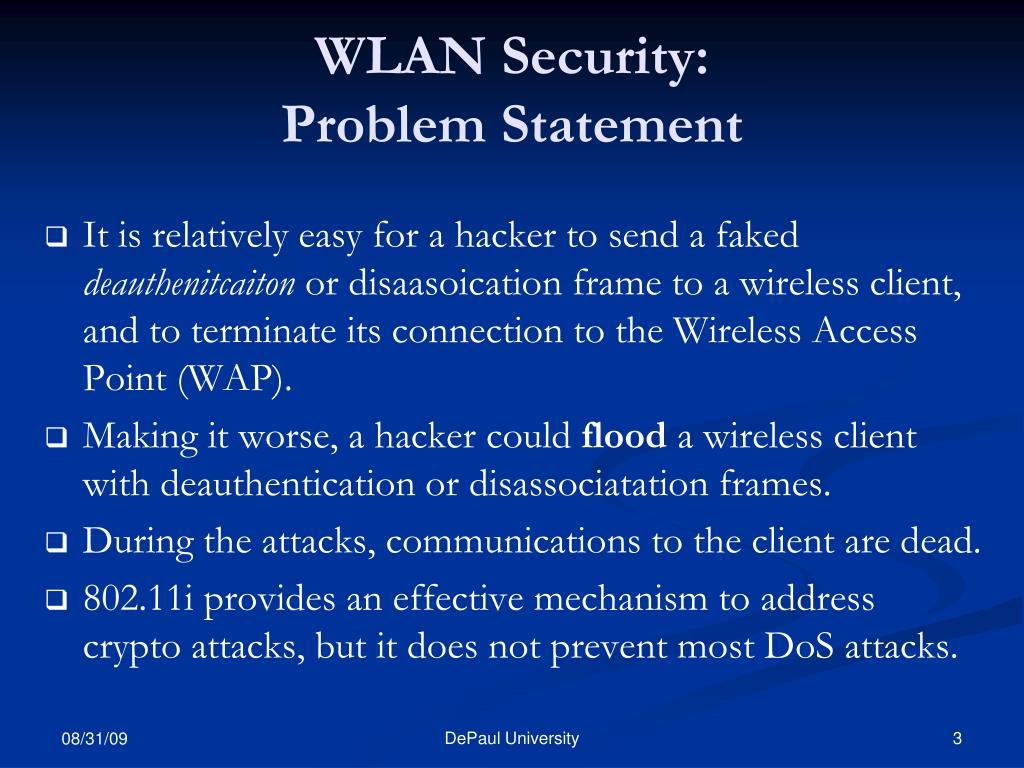 WLAN Security: