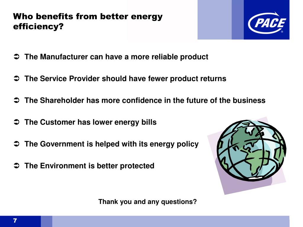 Who benefits from better energy efficiency?