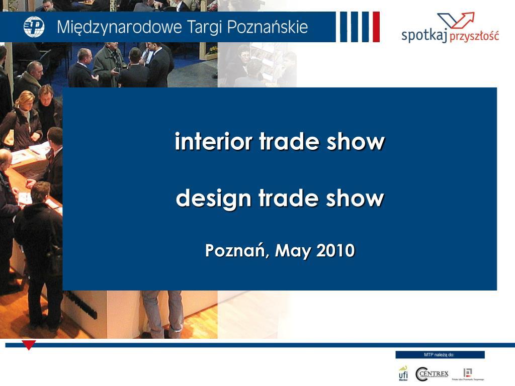 interior trade show design trade show pozna may 2010