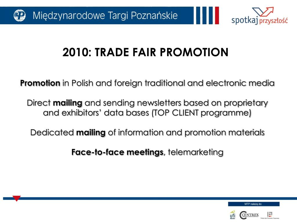 2010: TRADE FAIR PROMOTION