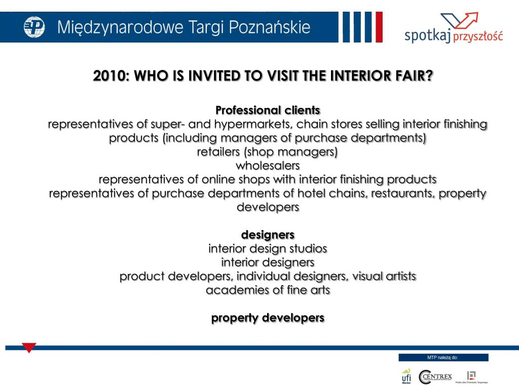 2010: WHO IS INVITED TO VISIT THE INTERIOR FAIR?