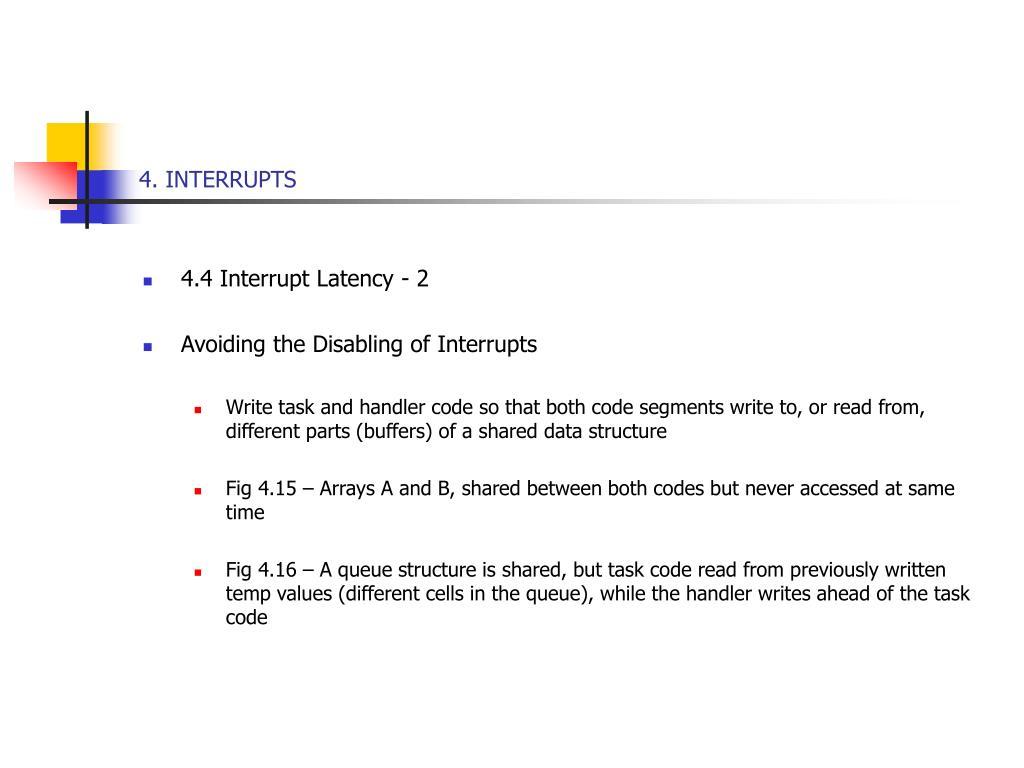 4. INTERRUPTS
