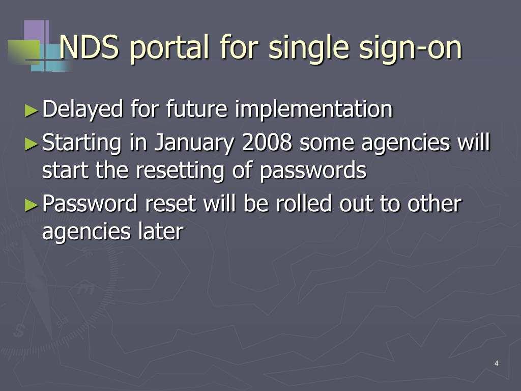 NDS portal for single sign-on