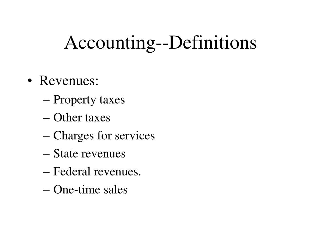 Accounting--Definitions