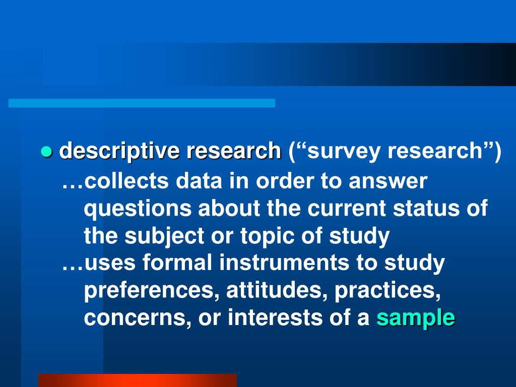 descriptive research