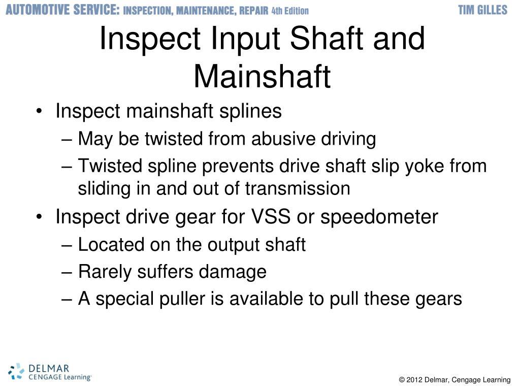 Inspect Input Shaft and Mainshaft