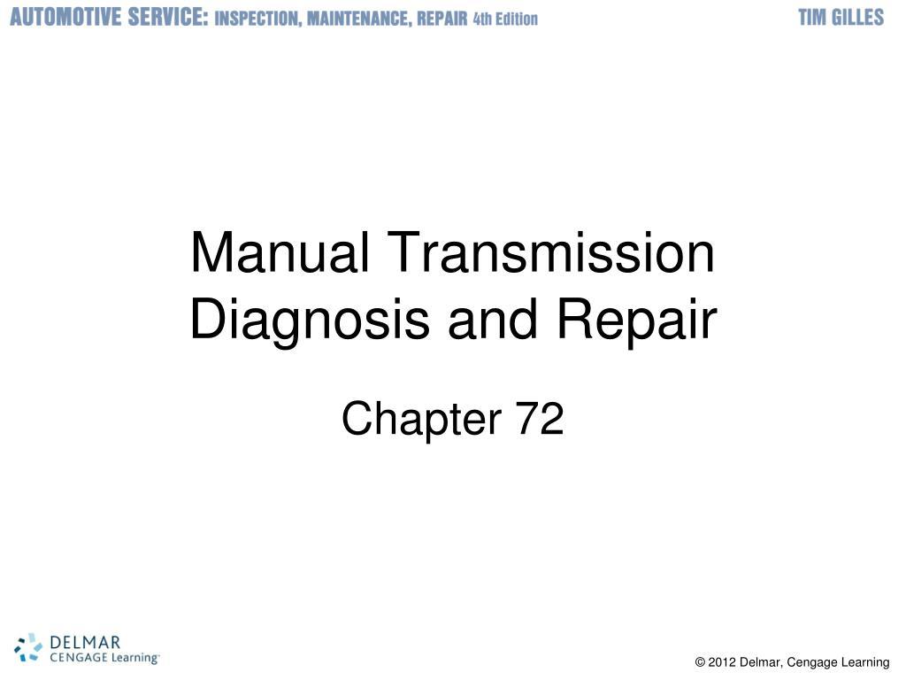 manual transmission diagnosis and repair