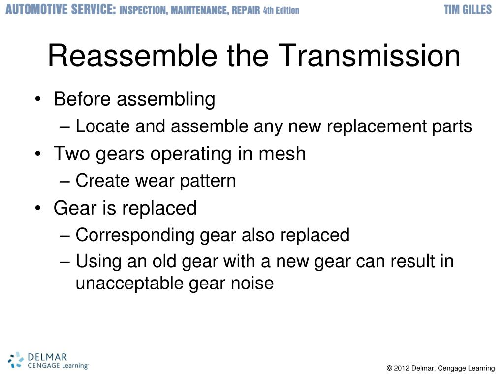 Reassemble the Transmission