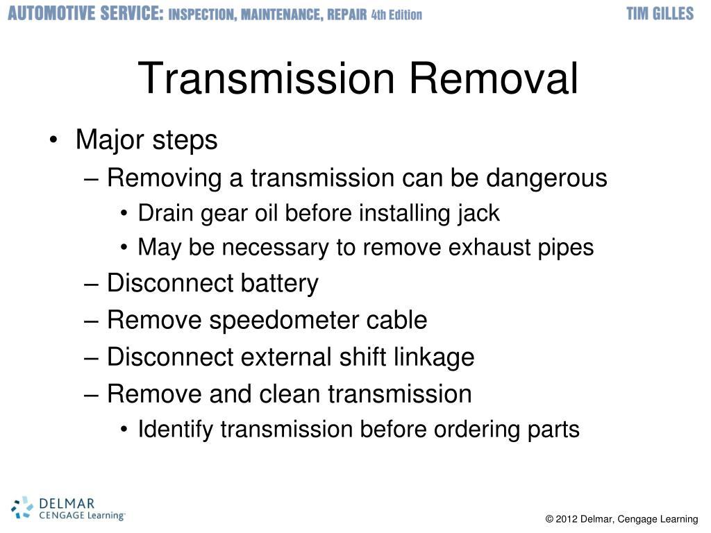 Transmission Removal