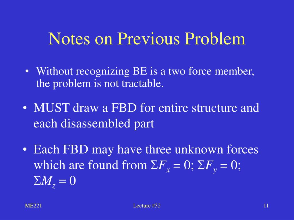 Notes on Previous Problem