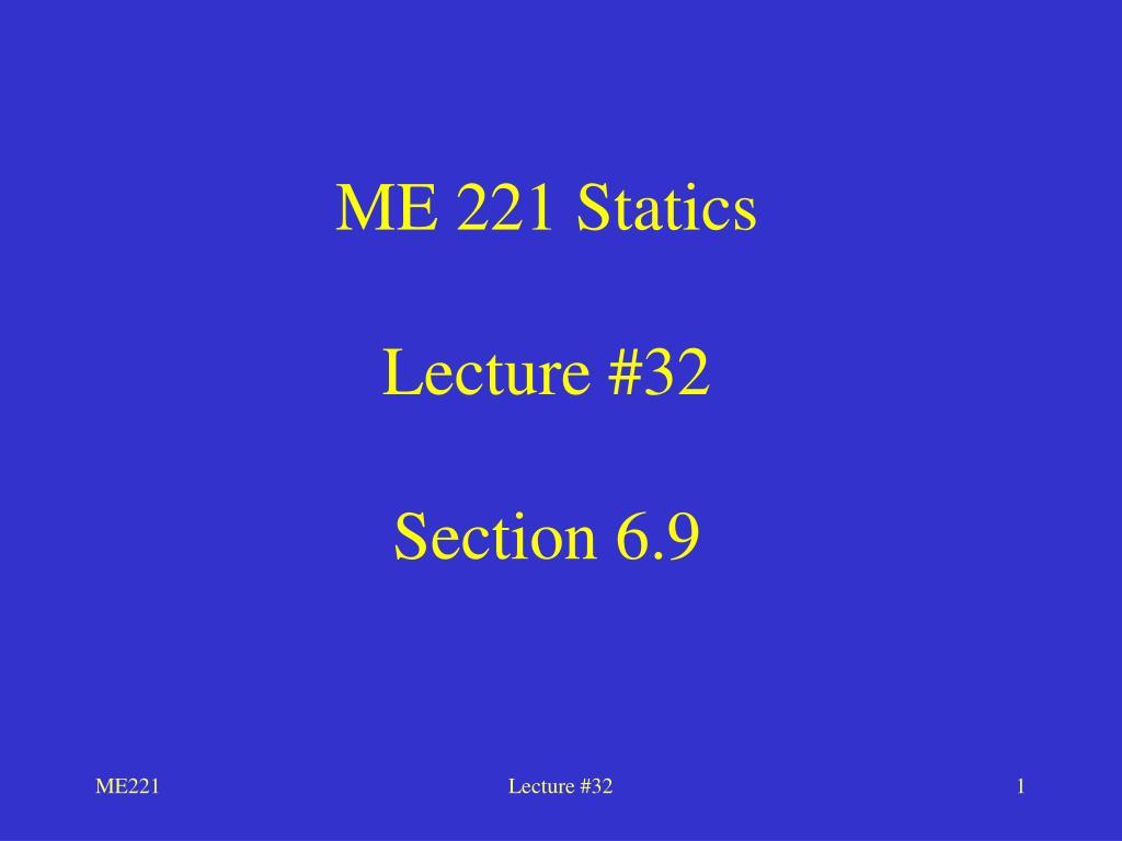 ME 221 Statics
