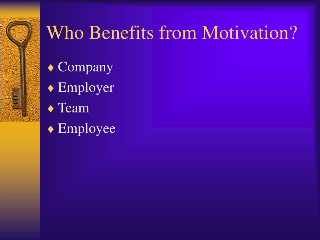 Who Benefits from Motivation?